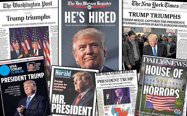How Newspapers Covered Donald Trump's Win