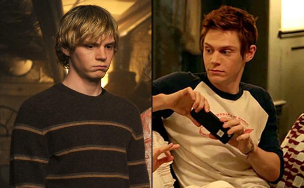 Evan Peters as Tate Langdon in American Horror Story: Murder House, Evan Peters as Rory Monahan in American Horror Story: Roanoke
