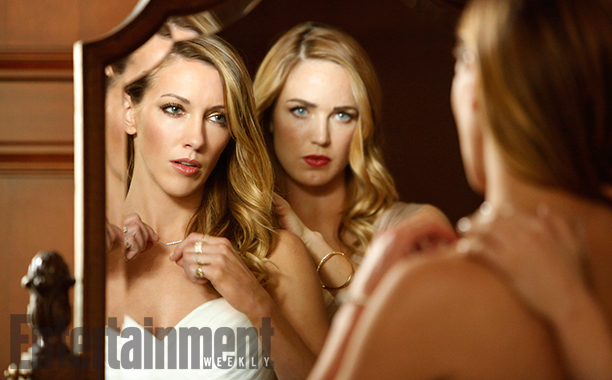 Katie Cassidy (Laurel Lance) and Caity Lotz (Sara Lance/White Canary)
