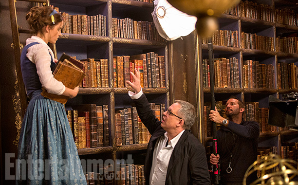 Director/Co-Screenwriter Bill Condon With Emma Watson as Belle