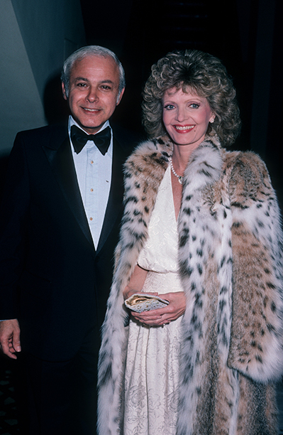 Florence Henderson With Ira Bernstein at the 1985 Scopus Awards on December 5, 1985