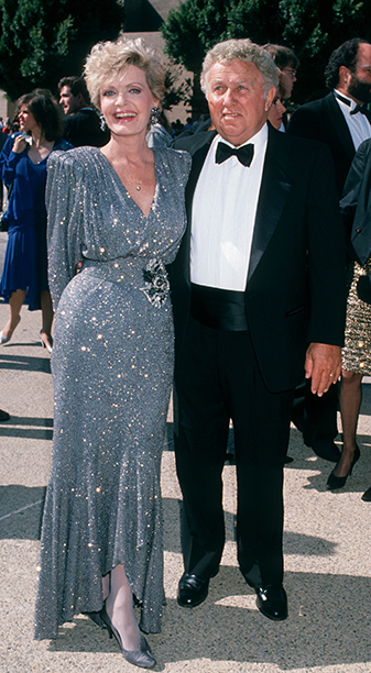 Florence Henderson With Ira Bernstein at the 41st Annual Primetime Emmy Awards on September 17, 1989