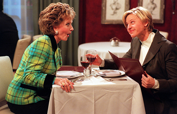Florence Henderson With Ellen DeGeneres on Ellen on January 15, 1997