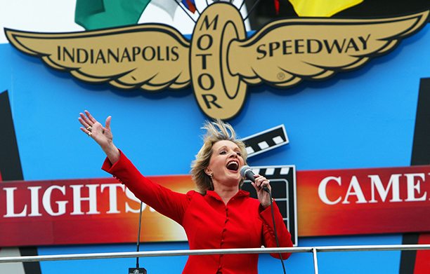 Florence Henderson at the Indianapolis 500 on May 30, 2004