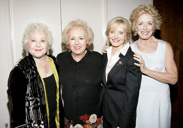 Florence Henderson With Estelle Harris, Doris Roberts, and Holland Taylor at the Academy of Television Arts & Sciences 60th Anniversary on October 12, 2006