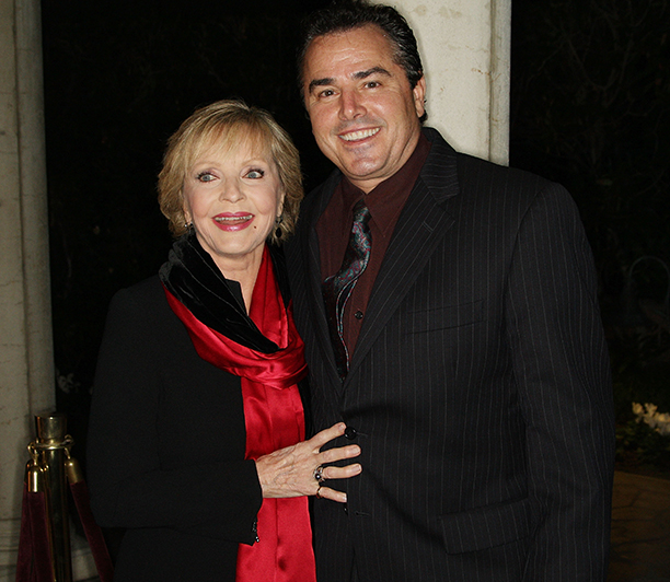 Florence Henderson With Christopher Knight at the 2008 Academy of Television Arts & Sciences' Hall of Fame Ceremony on December 9, 2008