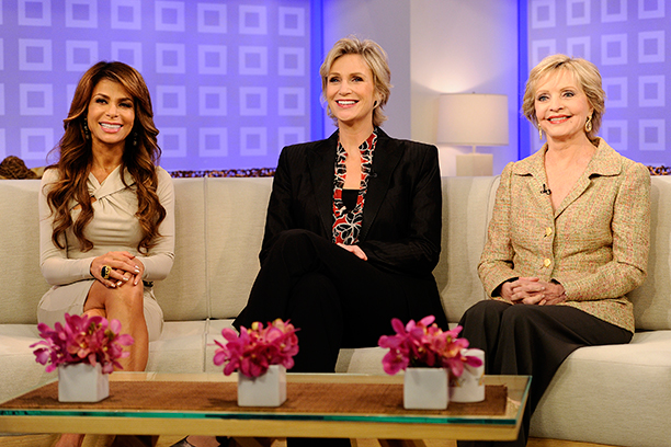Florence Henderson With Paula Abdul and Jane Lynch on NBC News' Today Show on September 20, 2011