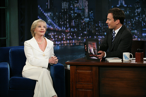Florence Henderson With Jimmy Fallon on Late Night with Jimmy Fallon on September 23, 2011