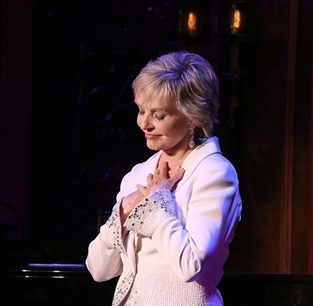 Florence Henderson Performing Life Is Not a Stage at 54 Below in New York City on October 28, 2013