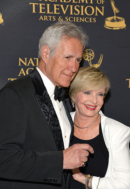 Florence Henderson With Alex Trebek at the 42nd Annual Daytime Creative Arts Emmy Awards on April 24, 2015