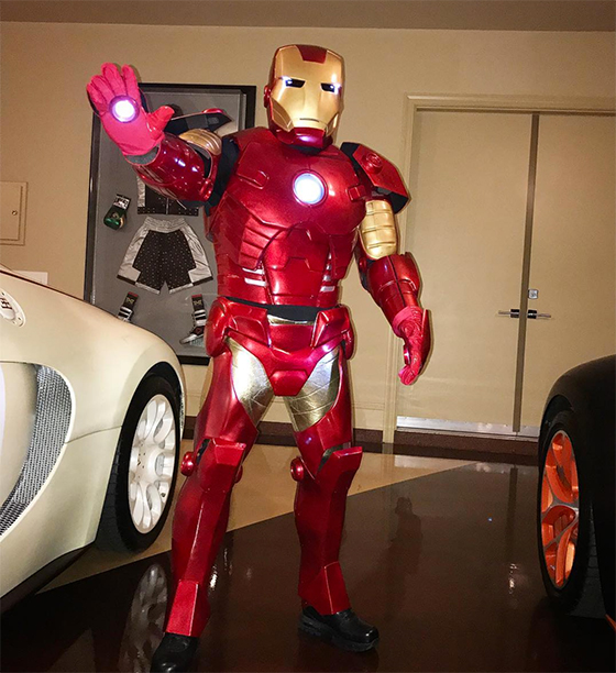 Floyd Mayweather as Iron Man