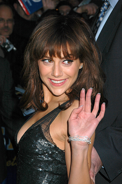 Brittany Murphy at The Late Show with David Letterman in New York City on March 29, 2005