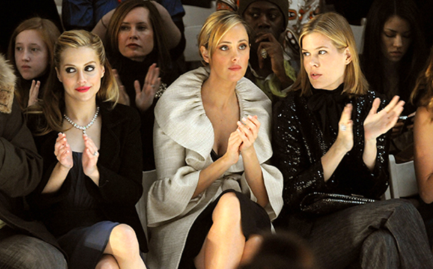 Brittany Murphy With Kim Raver and Mary Alice Stephenson at the Monique Lhuillier Fall 2008 Show in New York City on February 5, 2008