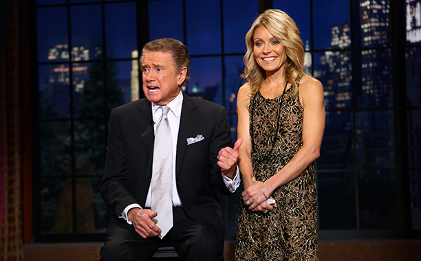 Regis Philbin and Kelly Ripa on Live! with Regis and Kelly on November 18, 2011