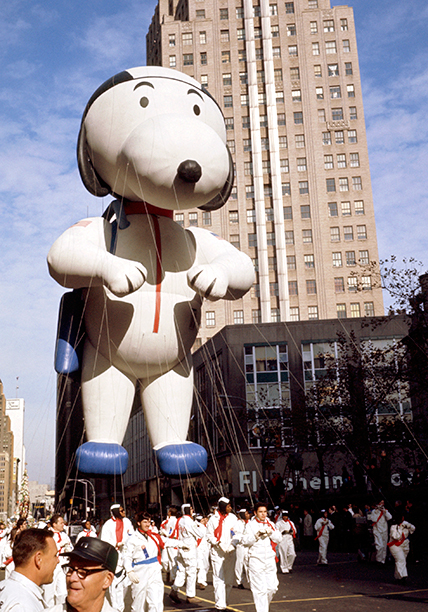 The Snoopy Balloon at The Macy's Thanksgiving Day Parade in 1970