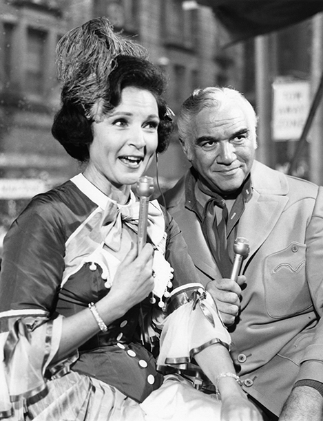 Betty White and Lorne Greene at The Macy's Thanksgiving Day Parade in 1967