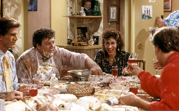 "'Cheers' Season 5 Episode 9: ""Thanksgiving Orphans"""