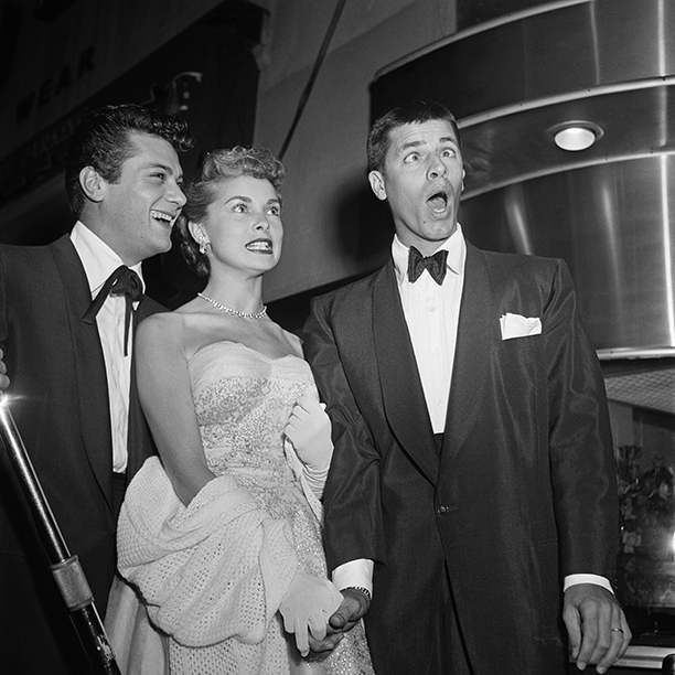 Tony Curtis, Janet Leigh, and Jerry Lewis
