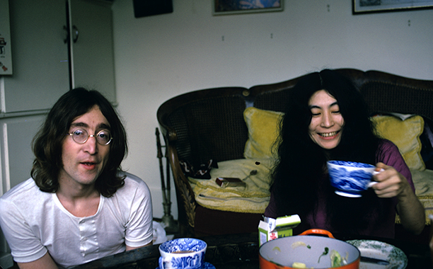 John Lennon and Yoko Ono in December 1968