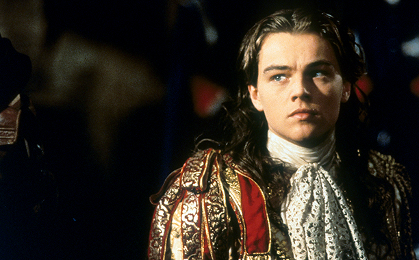 Leonardo DiCaprio in The Man In The Iron Mask in 1998