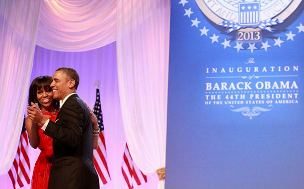 Barack Obama and Michelle Obama at Barack Obama's Inaugural Ball in 2013