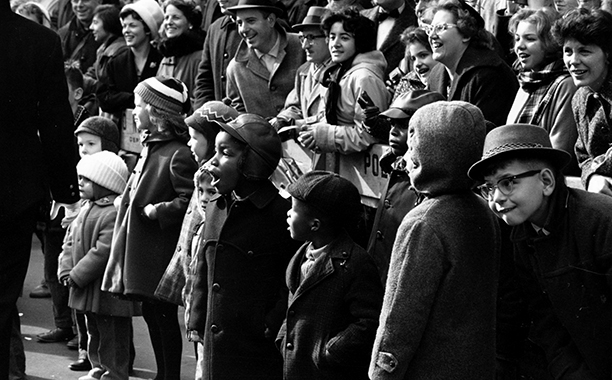 The Macy's Thanksgiving Day Parade in 1961