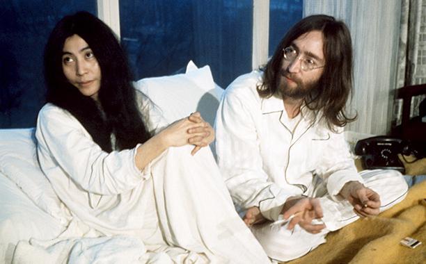 John Lennon and Yoko Ono in March 1969