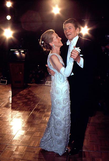 Ronald Reagan and Nancy Reagan at Ronald Reagan's Inaugural Ball in 1981