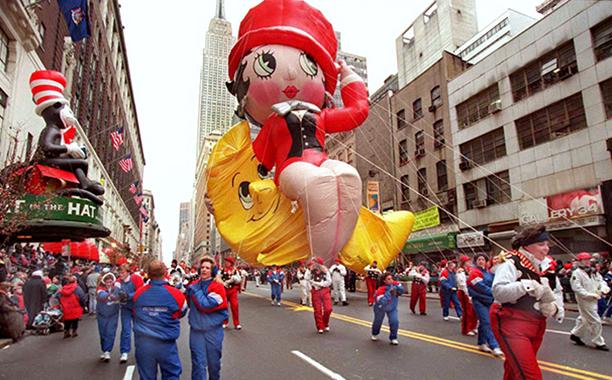 The Betty Boop Balloon at The Macy's Thanksgiving Day Parade November 23, 1995