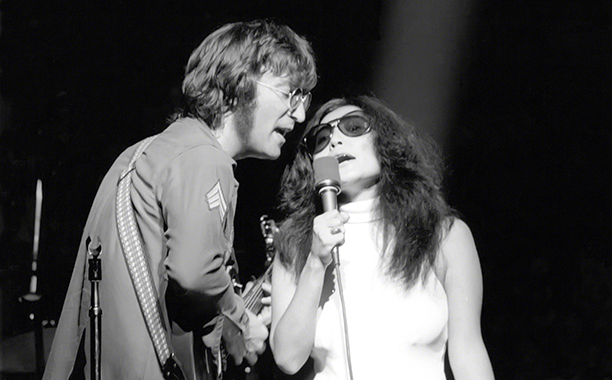 John Lennon and Yoko Ono Onstage in 1971