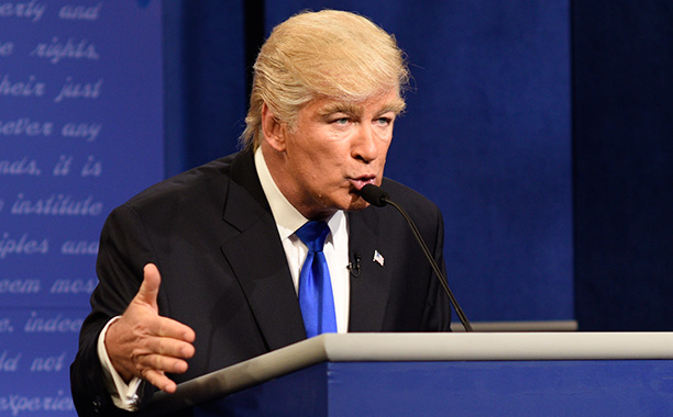 "GALLERY: Biggest TV Stories of 2016: All Crops: 611928058.JPG SATURDAY NIGHT LIVE ""Margot Robbie"" Episode 1705 Air date: October 1, 2016 Pictured: Alec Baldwin as Republican Presidential Candidate Donald Trump"