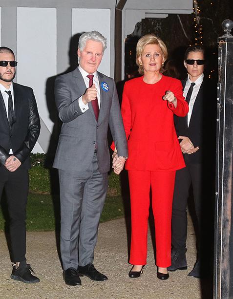 Orlando Bloom as Bill Clinton, Katy Perry as Hillary Clinton