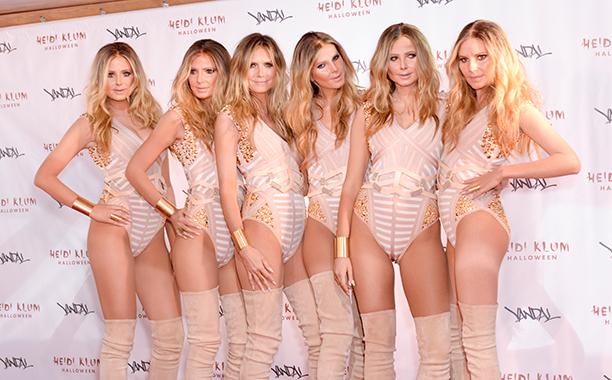 Heidi Klum as an Army of Heidi Klum Clones on October 31, 2016