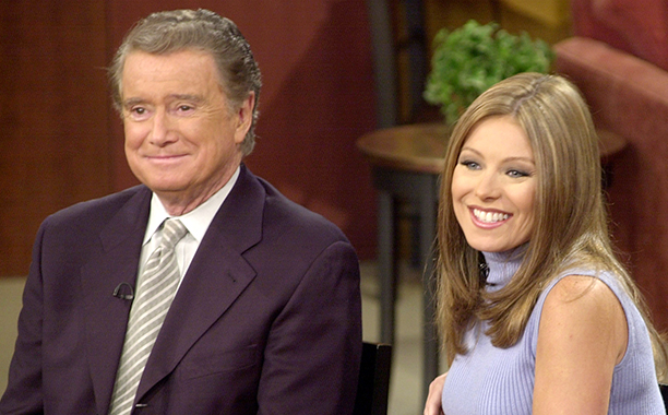 Regis Philbin and Kelly Ripa on Live! with Regis and Kelly on February 5, 2001