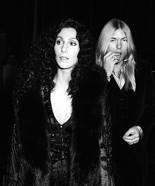 Cher and Gregg Allman at Jimmy Carter's Inaugural Ball in 1977