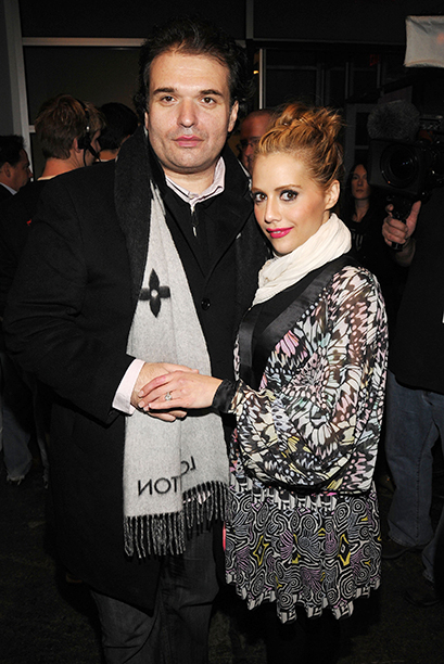 Brittany Murphy With Simon Monjack at the Matthew Williamson Fall 2008 Fashion Show in New York City on February 5, 2008