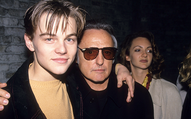 Leonardo DiCaprio and Dennis Hopper at the Red Rock West Party in 1994