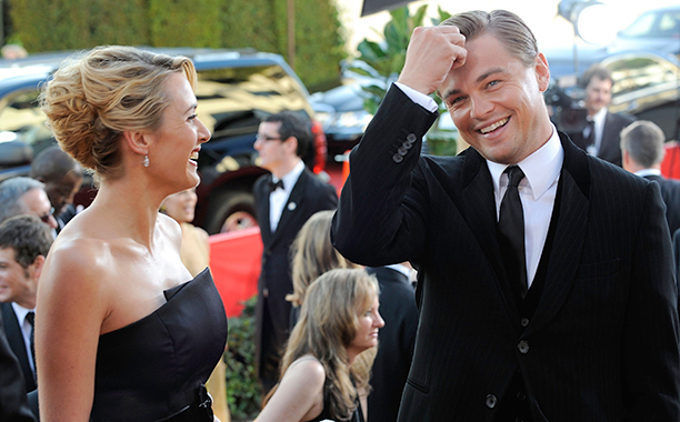 Leonardo DiCaprio With Kate Winslet at the 66th Annual Golden Globe Awards in Beverly Hills on January 11, 2009