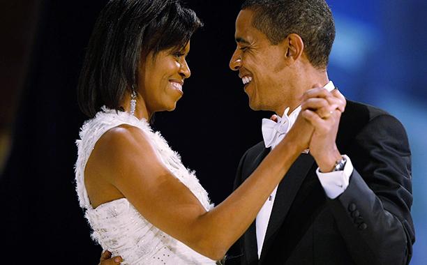 Barack Obama and Michelle Obama at Barack Obama's Inaugural Ball in 2009