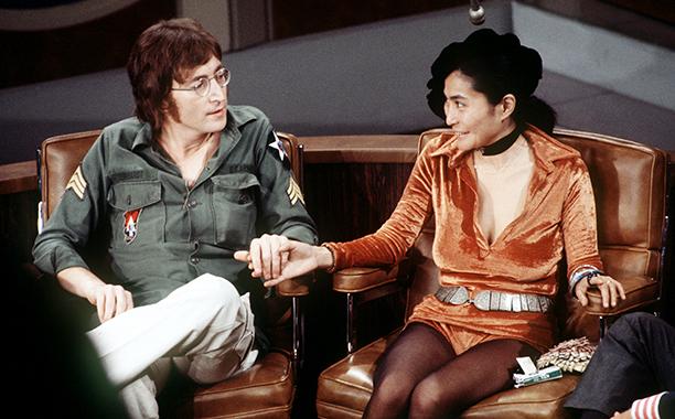 John Lennon and Yoko Ono on The Dick Cavett Show on September 24, 1971