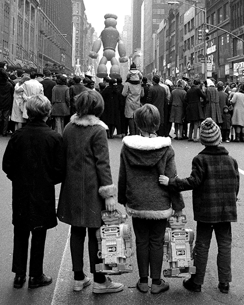 The Popeye Balloon at The Macy's Thanksgiving Day Parade 1968