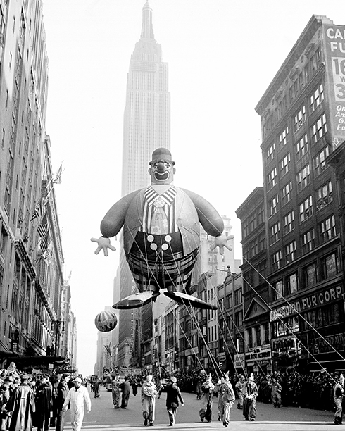 The Macy's Thanksgiving Day Parade in 1945