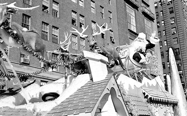 Santa at The Macy's Thanksgiving Day Parade in 1958