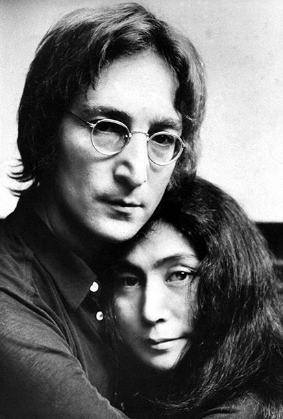 John Lennon and Yoko Ono on November 24, 1971