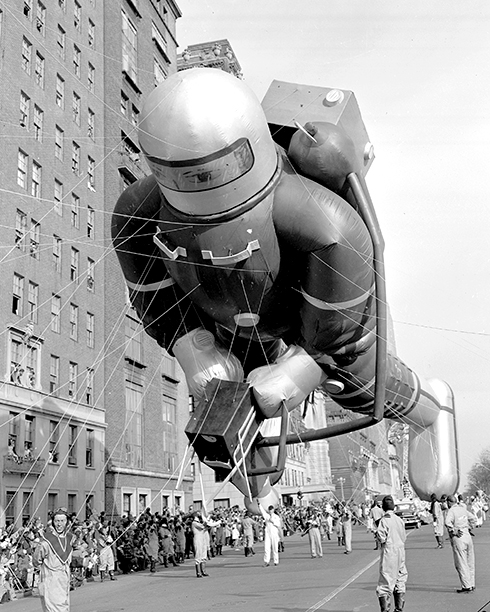 The Space Man Balloon at The Macy's Thanksgiving Day Parade in 1952