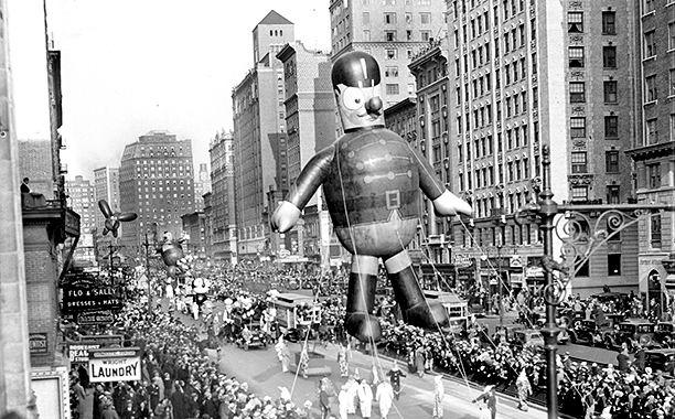 The Macy's Thanksgiving Day Parade on November 24, 1932