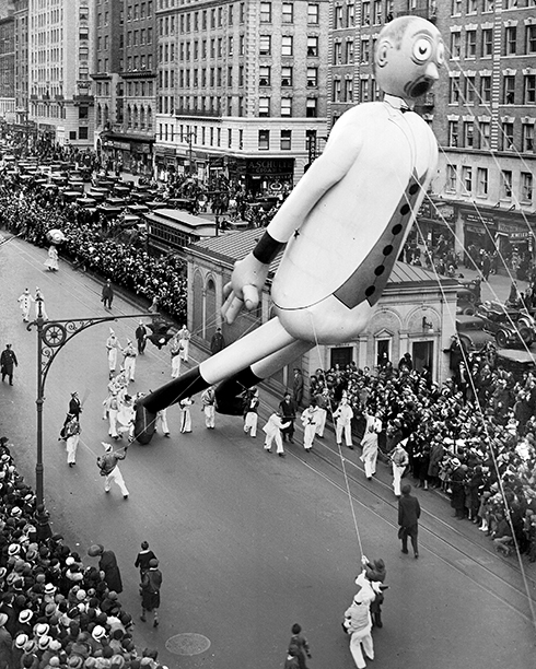 The Gulliver the Gullible Balloon at The Macy's Thanksgiving Day Parade in 1933
