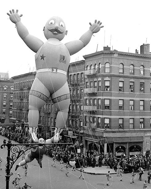 An Acrobat Ballon at The Macy's Thanksgiving Day Parade in 1938