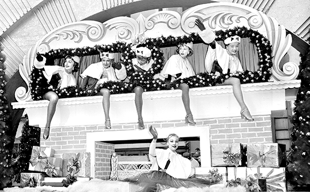 The Radio City Rockettes at The Macy's Thanksgiving Day Parade in 1958