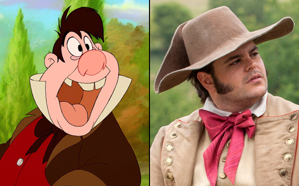 LeFou (Voiced by Jesse Corti) in 1991's Beauty and the Beast and Josh Gad as LeFou in 2017's Beauty and the Beast